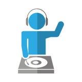 dj avatar playing music Stock Image