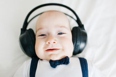 Dj baby boy Royalty Free Stock Photo