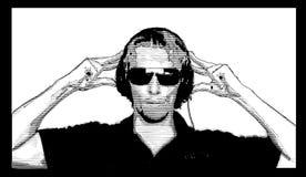 DJ background Stock Photo
