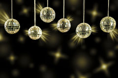 DJ background with golden light blurs Stock Photography