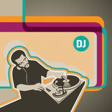 Dj banner Stock Photo