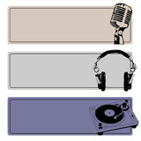 DJ Banners Vector Set Royalty Free Stock Images