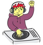 DJ behind console Stock Photography