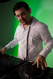 DJ bei der Arbeit Lizenzfreies Stockbild