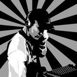 DJ bei der Arbeit Lizenzfreie Stockfotografie