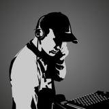 DJ bei der Arbeit Lizenzfreie Stockbilder