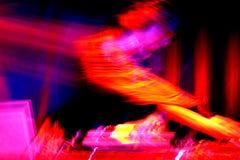DJ bij de draaischijven Royalty-vrije Stock Afbeelding