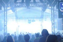 DJ bij het overleg Stock Foto