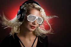 DJ blond Stock Image