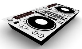 Dj board. Cool music creator) Isolated on white background Stock Photos