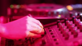 DJ booth stock video footage