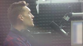 DJ broadcast radio stock footage