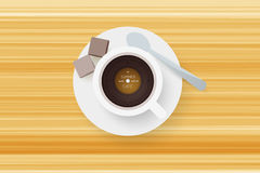 DJ cafe. Abstract cup of coffee with vinyl record. Royalty Free Stock Images