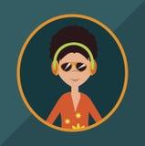 DJ cartoon design Stock Image