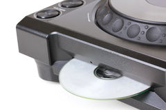 Dj cd player with compact disk Royalty Free Stock Photo