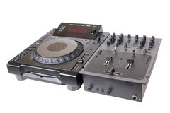 Dj cd player and mixer Stock Photography
