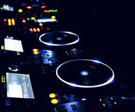 DJ CD player and mixer Royalty Free Stock Image