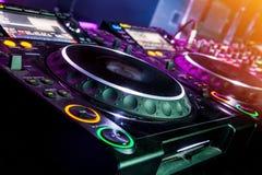 DJ CD player and mixer Royalty Free Stock Image