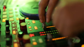 DJ CD player and mixer at the wedding stock footage
