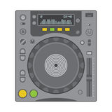 Dj cd player. Vector solid colors cd turntable Royalty Free Stock Images