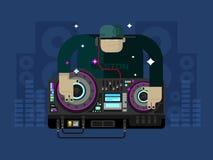 DJ character music Royalty Free Stock Photos