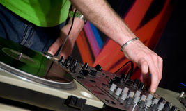 DJ in the club Stock Image