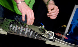 DJ in the club Royalty Free Stock Photography