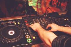 DJ in club stock foto's