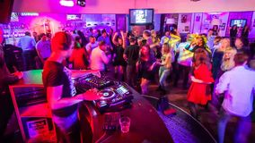 DJ in club. Time Lapse stock video footage