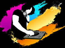 DJ color background Royalty Free Stock Photo