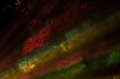 DJ colorido aporrea luces y la niebla Imagen de archivo