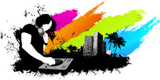 Dj colors banner Royalty Free Stock Photo