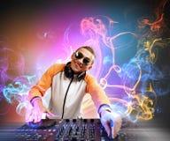 DJ e misturador ilustração stock