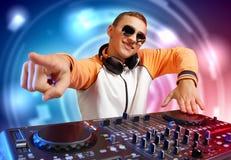 DJ e misturador fotografia de stock royalty free