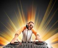 DJ e misturador fotografia de stock