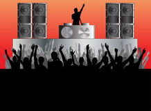 DJ Concert Background Stock Photography