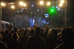 Dj at the concert. Dj at Peninsula Festival in Targu Mures Royalty Free Stock Photos