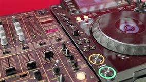 DJ console stock video footage