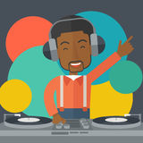 DJ with console Stock Image