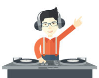 DJ with console Stock Photo