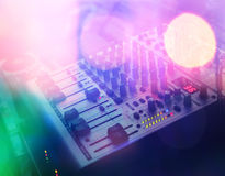 Dj console Royalty Free Stock Photography
