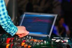 DJ console Stock Photos