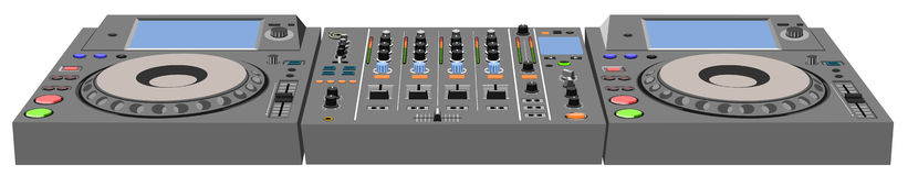 DJ console. The file has three layers: body, marking, button Royalty Free Stock Image