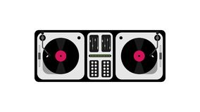 DJ console in flat design Stock Photos