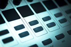 DJ console mixing desk Ibiza house music party nightclub Royalty Free Stock Photography