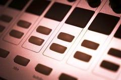 DJ console mixing desk Ibiza house music party nightclub Royalty Free Stock Image