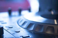 DJ console mixing desk Ibiza house music party nightclub Stock Image