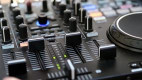 DJ console stock video footage