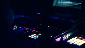 DJ console at party stock video footage