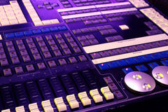 DJ control panel - music mixer Stock Photo